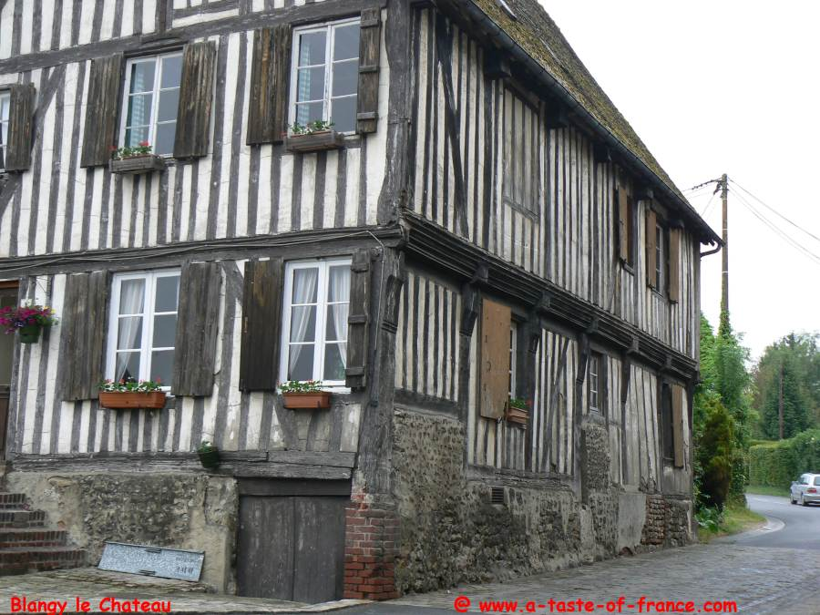 Old house in the village of Blangy le Chateau
