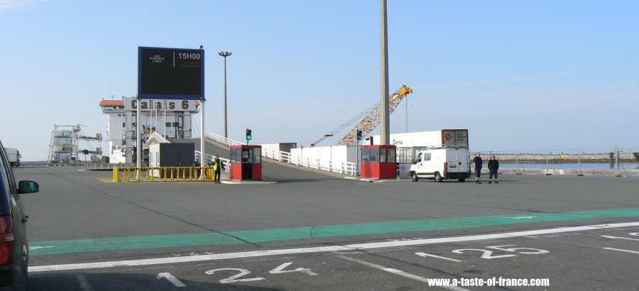 Calais docks P&O ferry