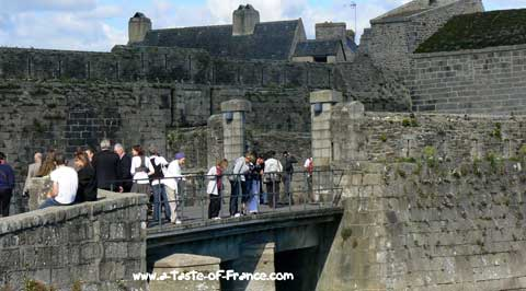Concarneau entrance to the old town Brittany