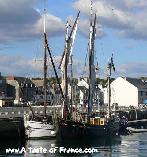 Concarneau fishing boats Brittany