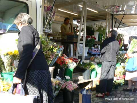 Concarneau market Brittany