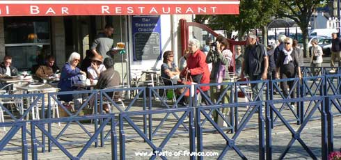 Concarneau market cafe Brittany