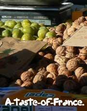 Concarneau market walnut stall