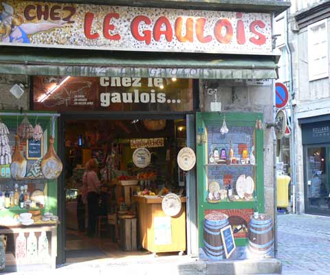 Shop in Dinan Brittany