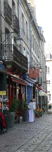 Dinan Brittany street