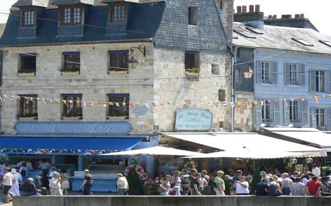 Honfleur street next tothe Harbour  Normandy
