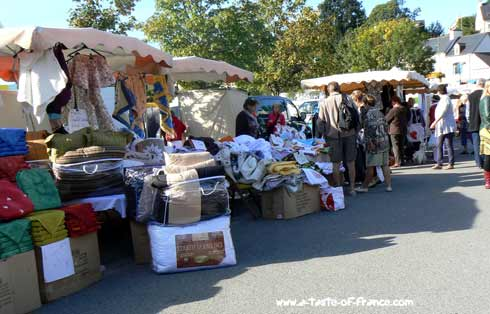La Foret Fouesnant market  Brittany