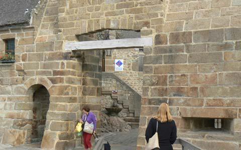Le Mont Saint Michel entrance Manche Normandy