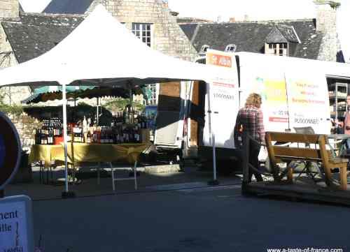 Locronan market Brittany