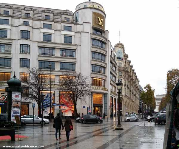 Louis Vuitton shop Champs Elysees Paris