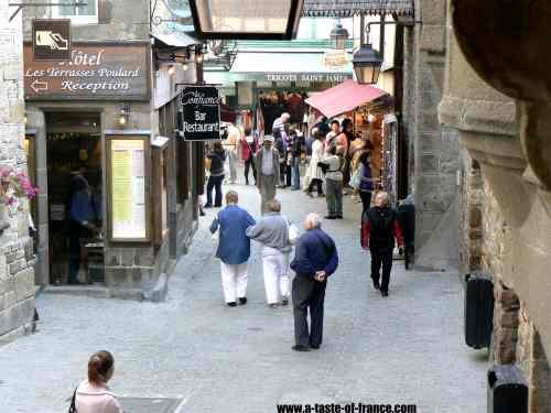 Mont-St-Michel village picture