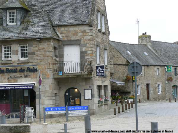 The village of Plouescat  Brittany