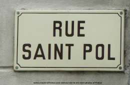 Plouescat street sign  picture