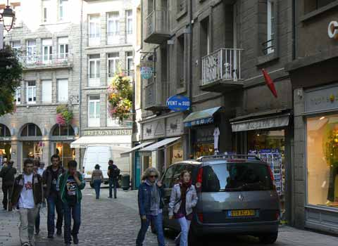 St Malo street Brittany