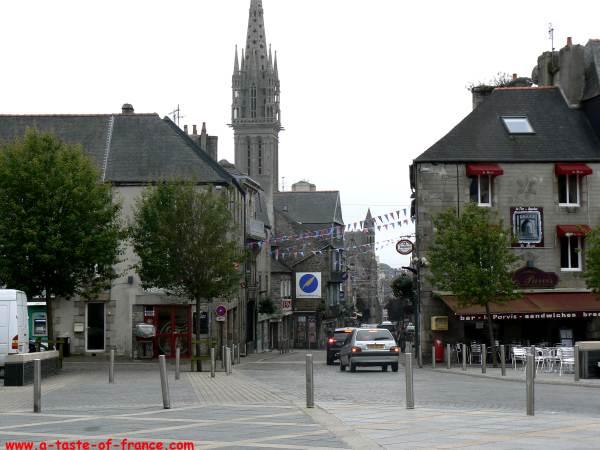 A street in the town of Saint-Pol-de-Leon