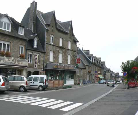 St Sever Calvados main road manche Normandy