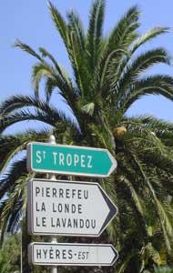 St Tropez sign