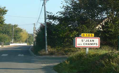 St Jean des Champs sign manche Normandy