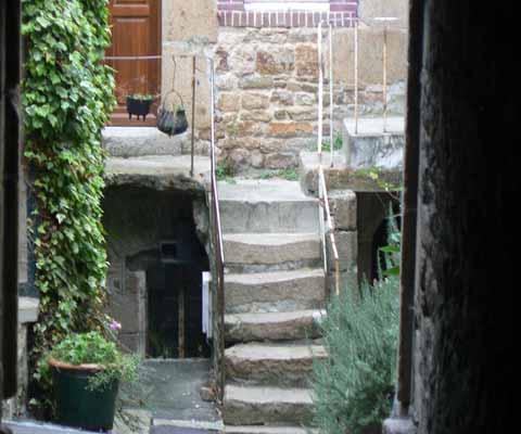 Villedieu les Poeles steps Normandy