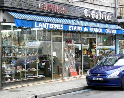 Villedieu les Poeles shop Normandy