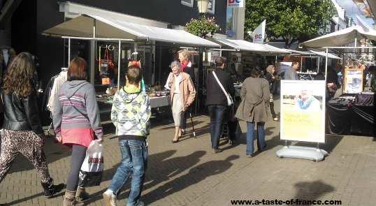 Wassenaar street market Holland