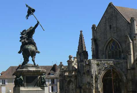 William the 1st statue Calvados Normandy
