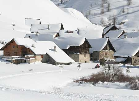 village in the French Alps picture