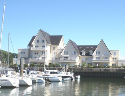 view of the apartment across the marina
