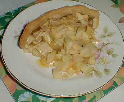 apple and almond tart picture