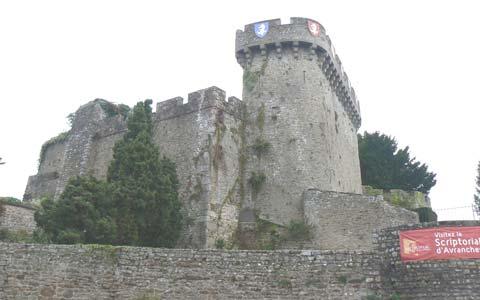 Avranches castle manche Normandy