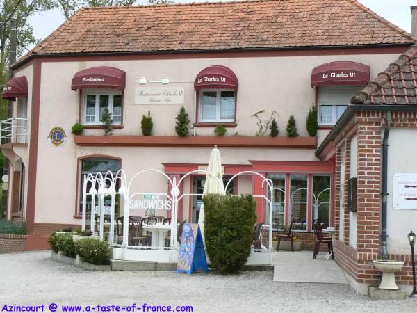 Azincourt restaurant sign