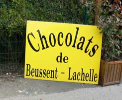 Beussent choclate sign picture