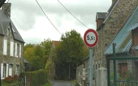 Bouillon street Manche Normandy