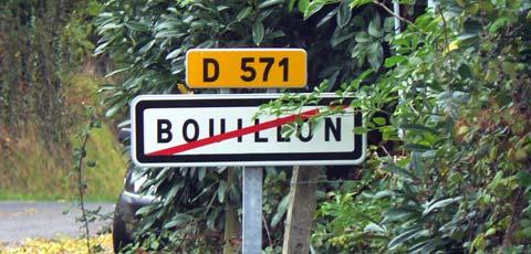 Bouillon sign Manche Normandy