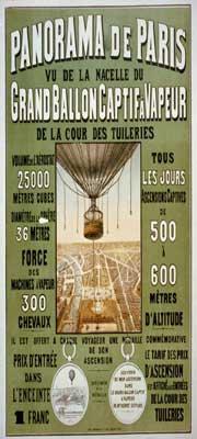 captive ballon poster Paris