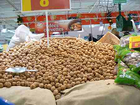 walnuts in supermarket picture