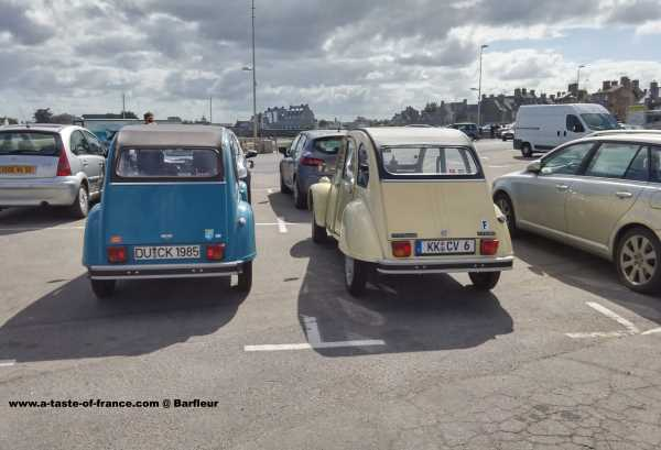 Classic citroen 2cv Barfleur Normandy France