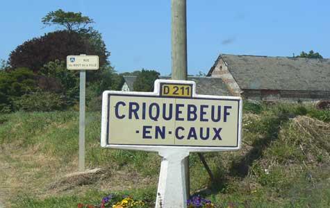 Criquebeuf en caux sign Normandy