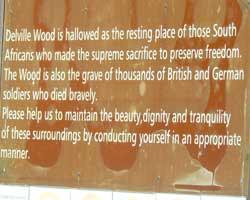 Deville wood sign