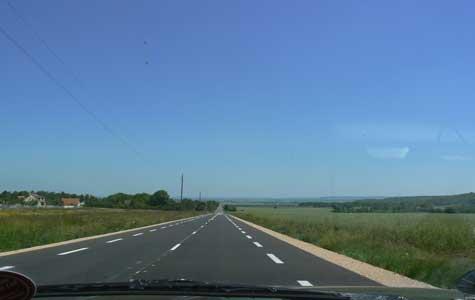 Falaise road Calvados Normandy