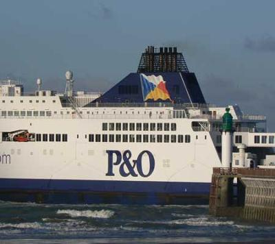 Ferry leaving the port of Calais
