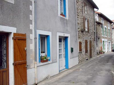 Front of house (blue shutters)