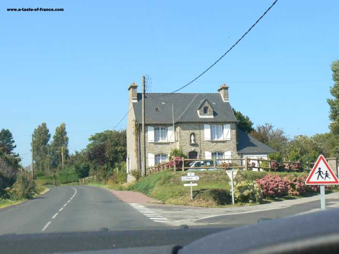 Gatteville Phare  village in Normandy