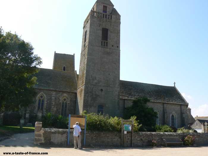 Gatteville Phare  village in Normandy