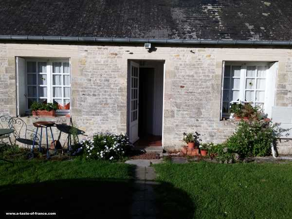 Cottage at chateau Le Hommet Normandy France house rental