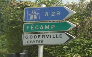 Goderville sign Normandy