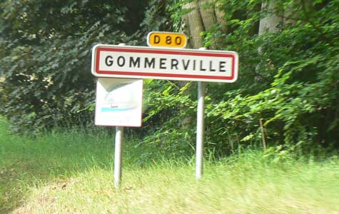 Gommerville sign Normandy