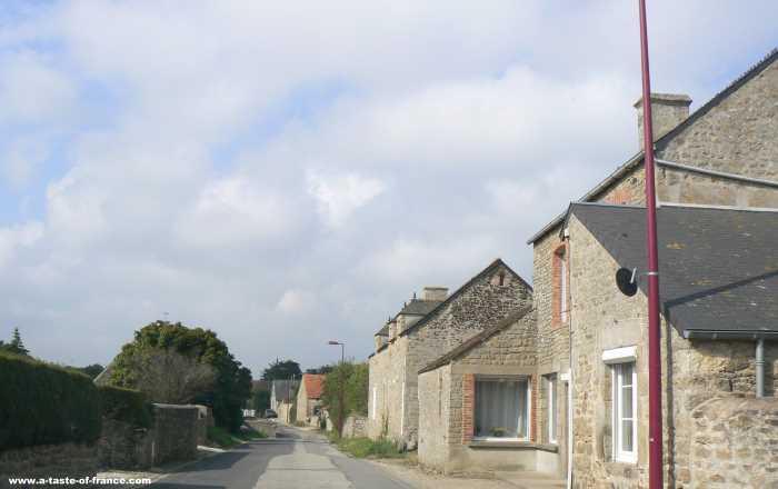 Gouberville village in Normandy