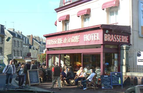 Granville street cafe La Manche Normandy