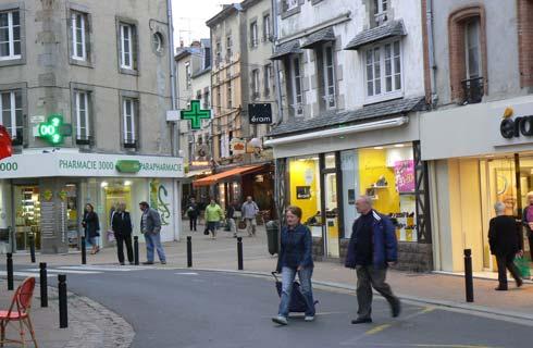 Granville street La Manche  Normandy